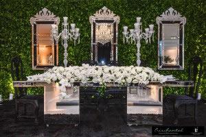 Mesa Espelhada e Espelho Veneziano Preto