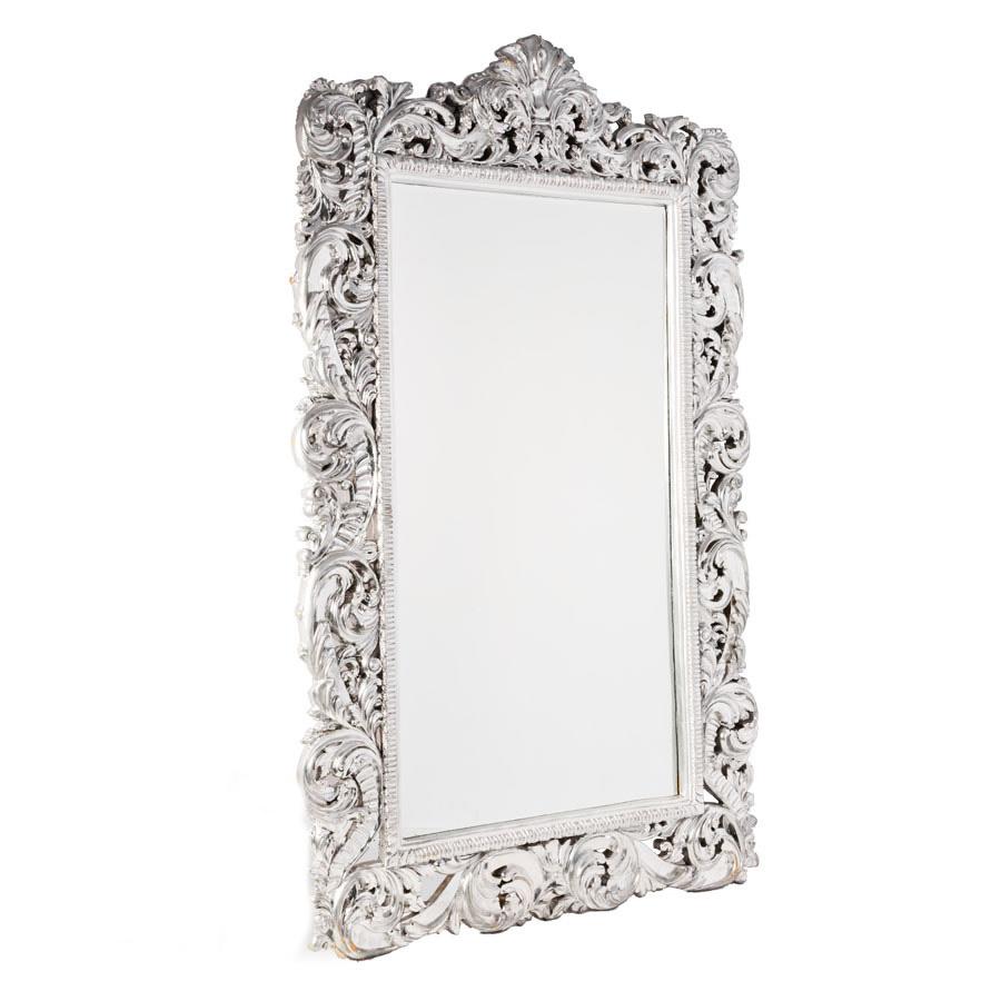 Espelho Maria Purpurina Prata Grande