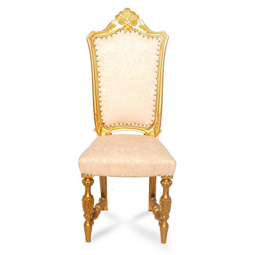 Cadeira Dourada com Estofado Fendi