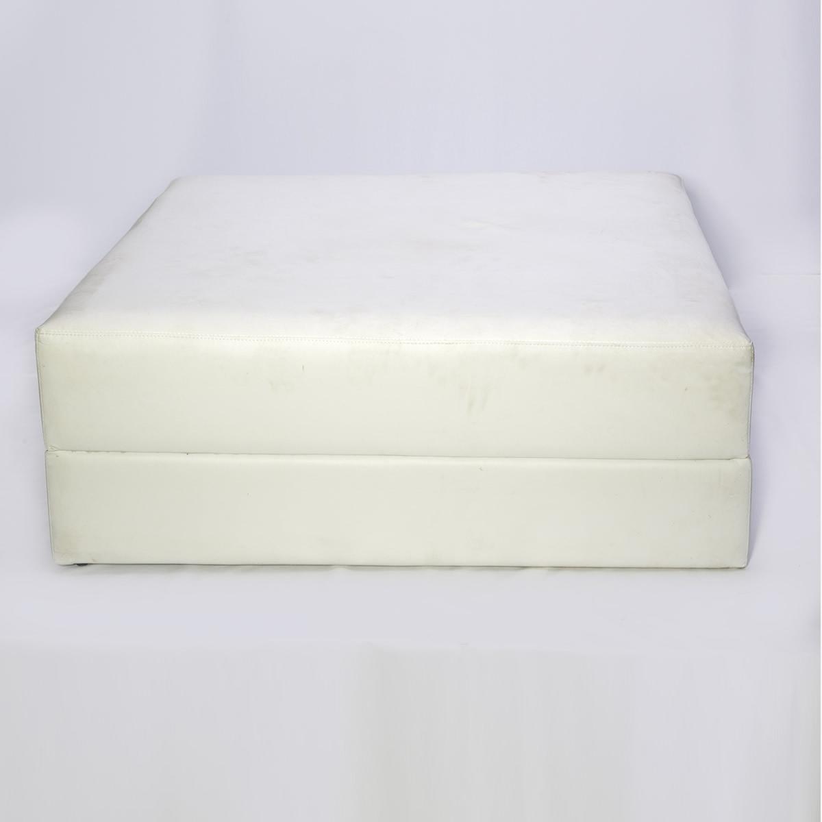 Puff Courino Quadrado - Branco