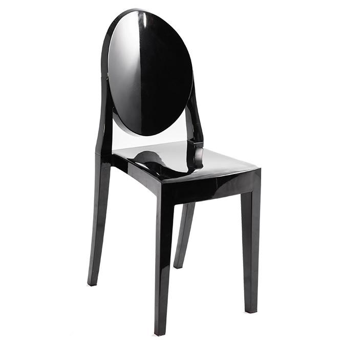 Cadeira Ghost Preta sem braço