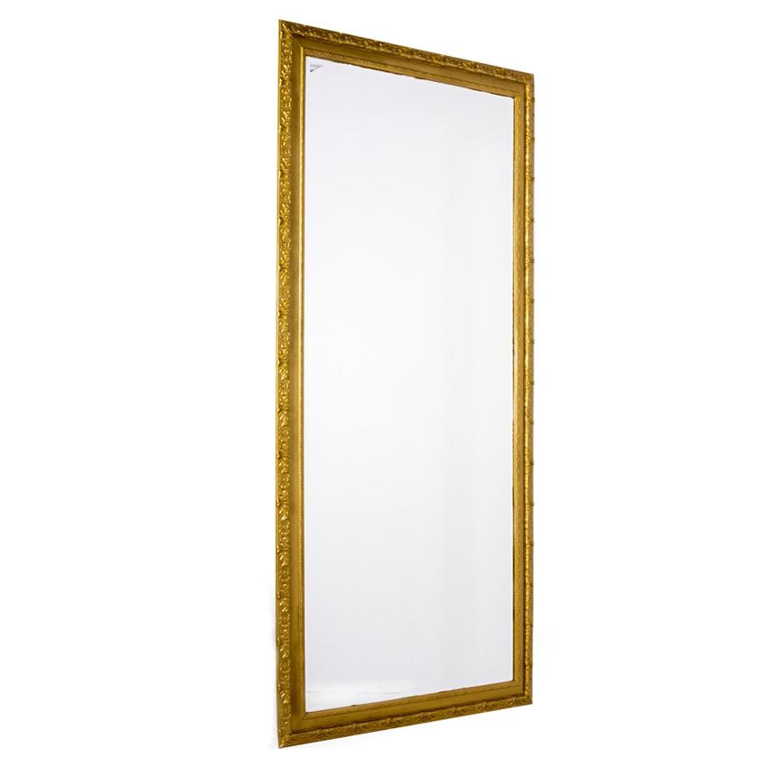 Espelho Moldura Fina Dourada