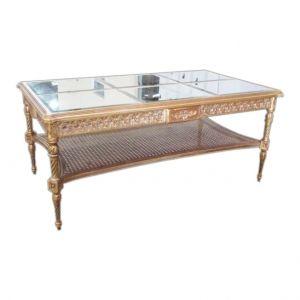 Mesa de Centro Dourada e Espelhada