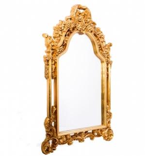 Espelho Maria Purpurina Dourado Pequeno