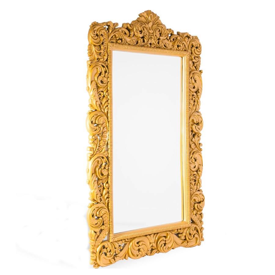 Espelho Maria Purpurina Dourado Grande