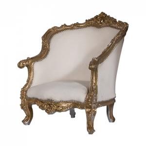 Poltrona Luis XV Dourada