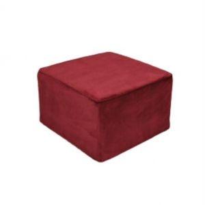 Puff Quadrado P Vermelho