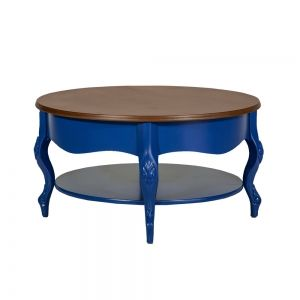 Mesa de Centro Azul Talhado
