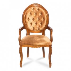 Cadeira Medalhão Fendi Capitonada