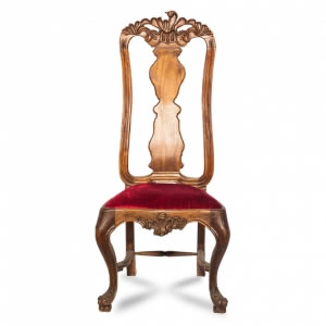 Cadeira Dom José - Assento Vermelho