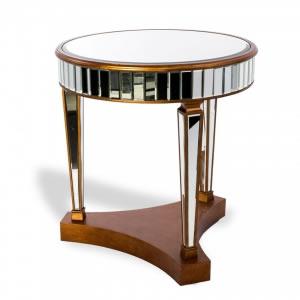 Mesa de Bolo Espelhada com Dourado